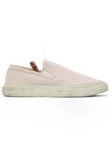 Acne Studios Pink Canvas Slip-On Sneakers