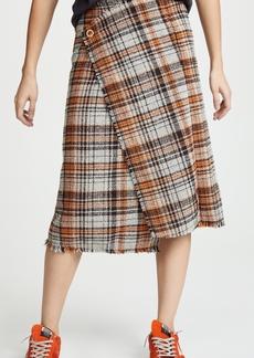 Acne Studios Plaid Midi Skirt