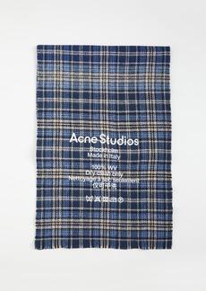 Acne Studios Plaid Scarf