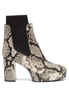 Acne Studios Platform python-effect leather chelsea boots