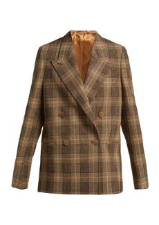 Acne Studios Prince of Wales-check wool-blend blazer