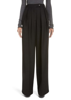 Acne Studios Pristine Pleated Wide Leg Suiting Trousers