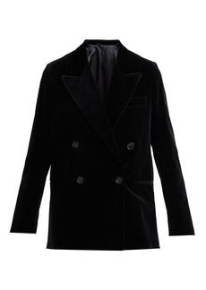 Acne Studios Relaxed double-breasted velvet blazer