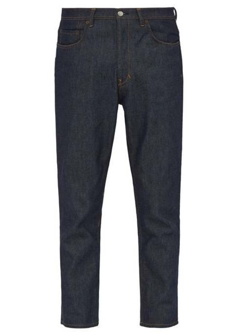 Acne Studios River raw-denim tapered-leg jeans