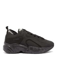Acne Studios Rockaway Safety mesh and leather trainers