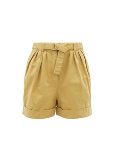 Acne Studios Rowanne belted cotton-twill shorts