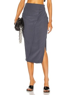 Acne Studios Ruched Midi Skirt