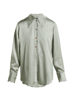 Acne Studios Ruffled satin blouse