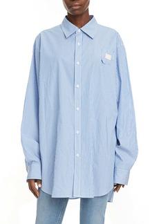 Acne Studios Saco Stripe Relaxed Cotton Shirt