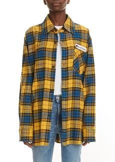 Acne Studios Salak Plaid Flannel Shirt