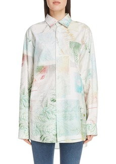 Acne Studios Salem Map Print Cotton Shirt (Unisex)