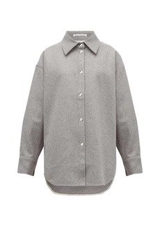 Acne Studios Sharwin wool-blend flannel overshirt