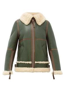Acne Studios Shearling leather aviator jacket