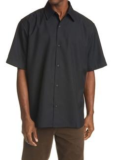 Acne Studios Shepton Oversize Short Sleeve Button-Up Shirt