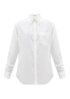 Acne Studios Simona logo-embroidered cotton shirt