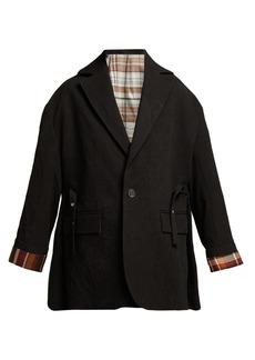 Acne Studios Single-breasted cotton blazer