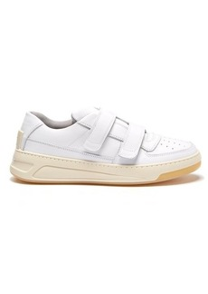 Acne Studios Steffey Velcro-strap leather trainers