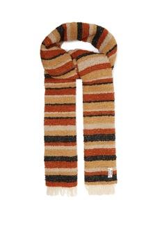 Acne Studios Striped bouclé scarf