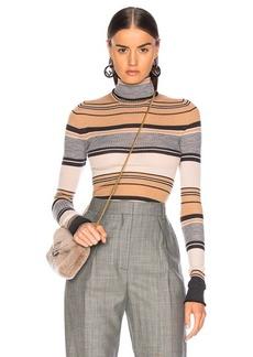 Acne Studios Striped Turtleneck Knit Top