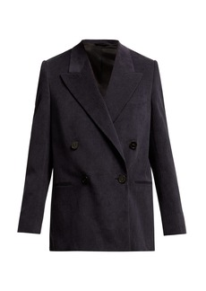 4444309522a Acne Studios Odine Double-Breasted Wool   Cashmere Peacoat