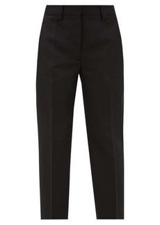 Acne Studios Tailored cropped grain-de-poudre trousers
