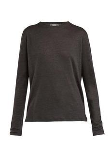 Acne Studios Taline long-sleeved linen T-shirt