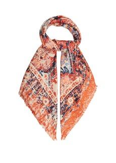 Acne Studios Tapestry-print silk scarf