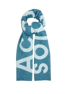 Acne Studios Toronty intarsia wool-blend scarf