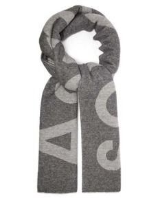 Acne Studios Toronty logo-jacquard wool-blend scarf