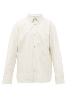 Acne Studios Tracey leather overshirt
