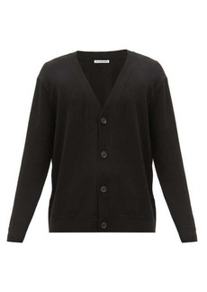 Acne Studios V-neck button-through wool-blend cardigan