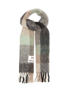 Acne Studios Vally checked scarf