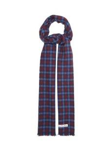 Acne Studios Varney checked wool-blend scarf