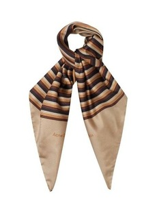 Acne Studios Velma striped silk scarf