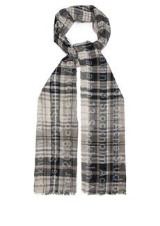 Acne Studios Vena checked cotton scarf
