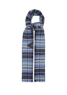 Acne Studios Victoria logo-jacquard checked wool scarf