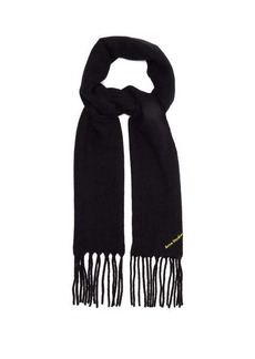 Acne Studios Villy boiled wool-blend scarf