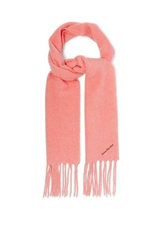 Acne Studios Villy logo-embroidered wool-blend bouclé scarf