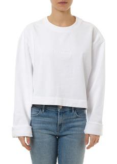Acne Studios White Cotton Logo Sweatshirt