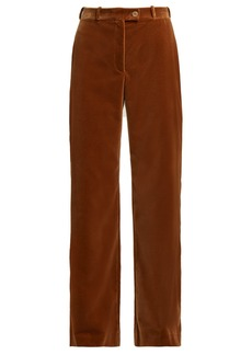 Acne Studios Wide-leg cotton-velvet trousers