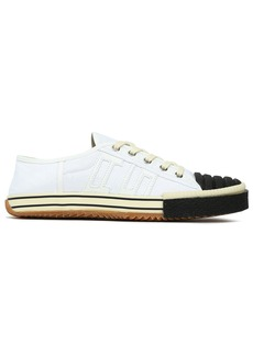 Acne Studios Woman Appliquéd Quilted Two-tone Cotton-canvas Sneakers White