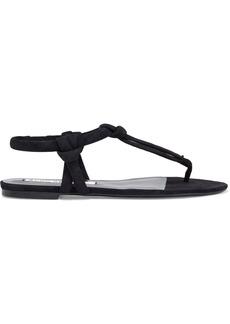 Acne Studios Woman Arbor Knotted Suede Sandals Black