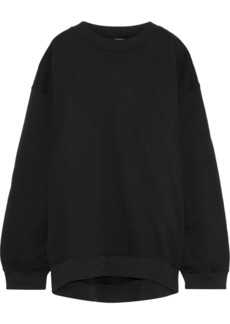 Acne Studios Woman Beta Guitar Studded Appliquéd Cotton-blend Fleece Sweatshirt Black