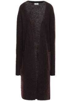 Acne Studios Woman Brushed-knitted Cardigan Chocolate