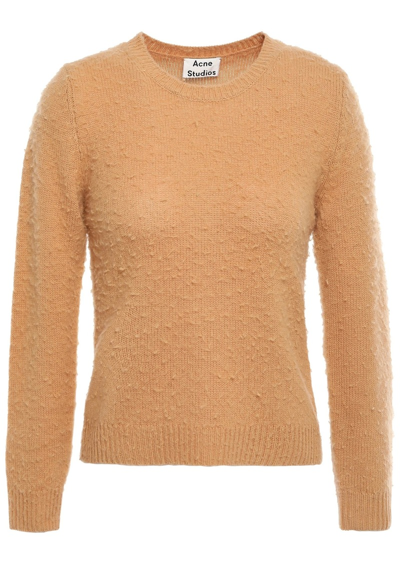 Acne Studios Woman Brushed Wool And Cashmere-blend Sweater Camel