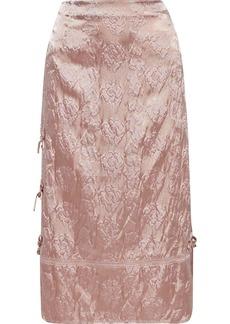 Acne Studios Woman Button-detailed Satin-cloqué Skirt Antique Rose