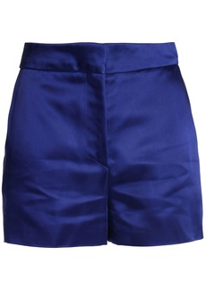 Acne Studios Woman Callie Duchesse-satin Shorts Royal Blue