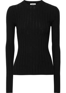 Acne Studios Woman Carina Ribbed Merino Wool-blend Top Black