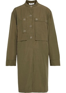Acne Studios Woman Coated-canvas Dress Army Green