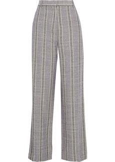 Acne Studios Woman Cotton-blend Jacquard Straight-leg Pants Purple